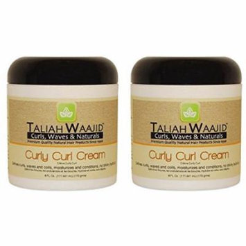 Taliah Waajid Curls, Waves and Naturals Curly Curl Cream, 6 Ounce (Pack of 2)