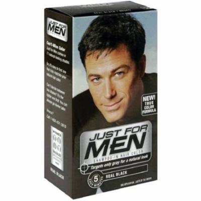 Just for Men Hair Color 55 - Real Black Kit (Pack of 6)
