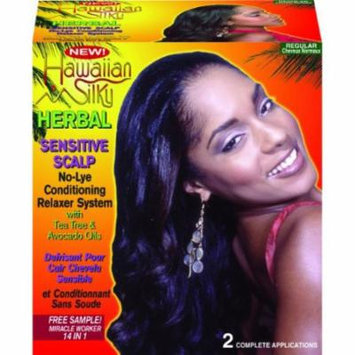 Hawaiian Silky Herbal No-Lye Relaxer Kit - Regular 2-Count (Pack of 6)