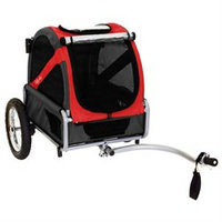 DoggyRide Mini Dog Bike Trailer - Urban Red (DRMNTR02-RD)