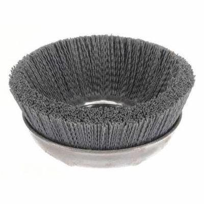 WEILER 14516 Cup Brush, 6 In D, Wire 0.040/120 In