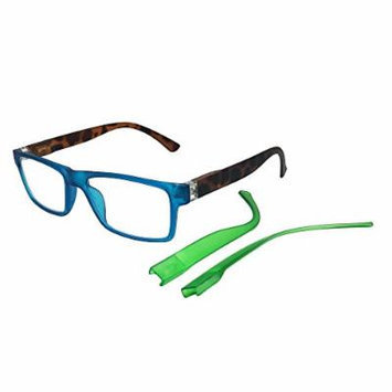 Beyond Optics Clarity Fashion Reader with Interchangeable Temples, Magnify 1.75, 0.25 Pound