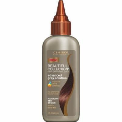 Clairol Beautiful Collection Advanced Gray Solution Hair Color - #4R - Maho Red/Brown 3 oz. (Pack of 6)