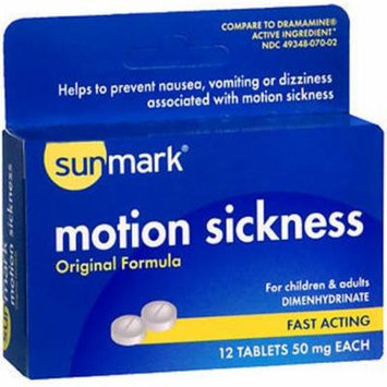 Sunmark Motion Sickness Tablets Original Formula - 12 ct