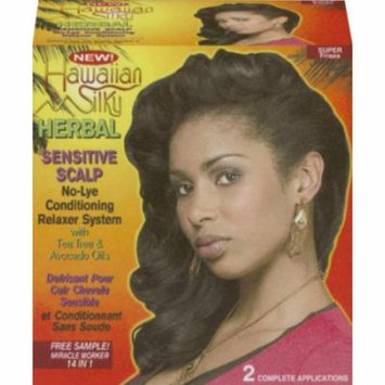 Hawaiian Silky Herbal No-Lye Relaxer Kit - Super 2-Count (Pack of 2)
