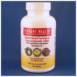 Vibrant Health Maximized Turmeric Curcuminoids - 1000 mg - 60 Tablets