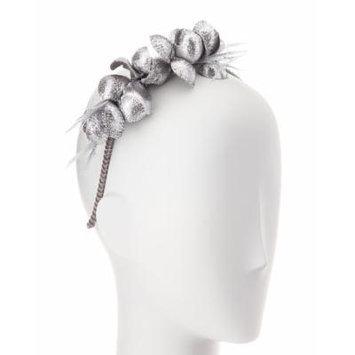 Gigi Burris Alchemia Silk Flower Headband, Silver