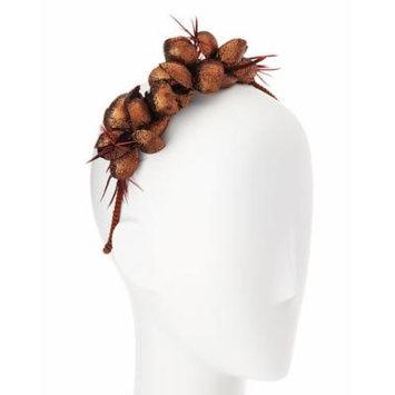 Gigi Burris Alchemia Silk Flower Headband, Copper