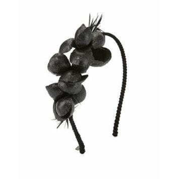 Gigi Burris Alchemia Silk Flower Headband, Black