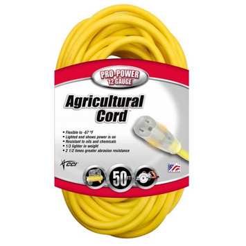 Coleman Cable 01658 Outdoor Extension Cord - 50 feet