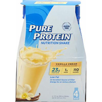 Pure Protein Pure Protein Vanilla Cream Shake-4 pack 11oz Ready To Drink