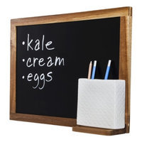 Threshold Acacia Wood Chalkboard with Pen Holder