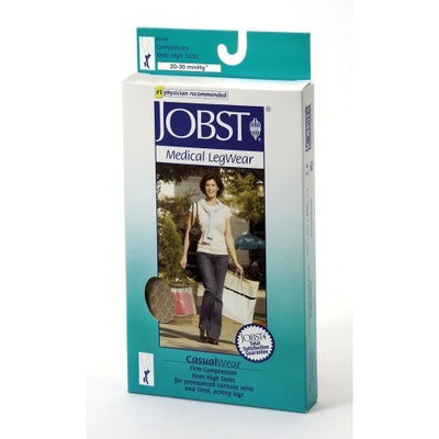 Jobst Women's CasualWear 20-30 mmHg Knee High Sock Size: Medium, Color: Sand