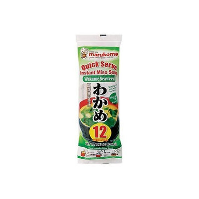 Marukome Quick Serve Instant Miso Soup (Wakame Seaweed)