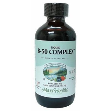 Maxi Health Liquid B-50 Complex with Serenity & Relaxation Formula, Berry, 8 Fluid Ounce