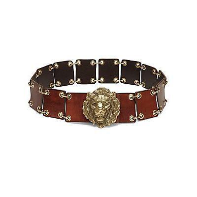 Saint Laurent Lion Chain Leather Belt