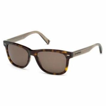 ERMENEGILDO ZEGNA Sunglasses EZ0028 52J Dark Havana 54MM