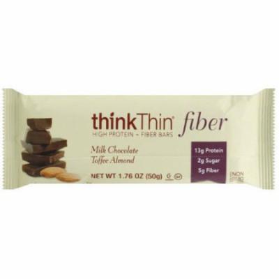 thinkThin Milk Chocolate Toffee Almond Fiber Bar
