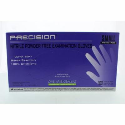 Adenna PRECISION Thin Nitrile PF, Fingertip Textured PCS772 Small