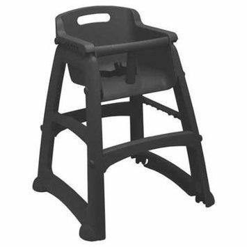 RUBBERMAID FG780608BLA Youth High Chair, Black