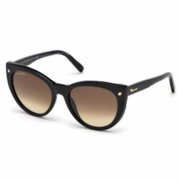 DSQUARED2 Sunglasses DQ0180 01F Shiny Black 55MM