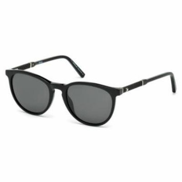 MONTBLANC Sunglasses MB588S 01A Shiny Black 52MM