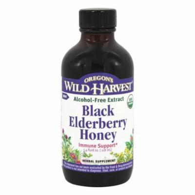 Oregon's Wild Harvest - Organic Black Elderberry Honey Alcohol-Free Extract - 4 oz.