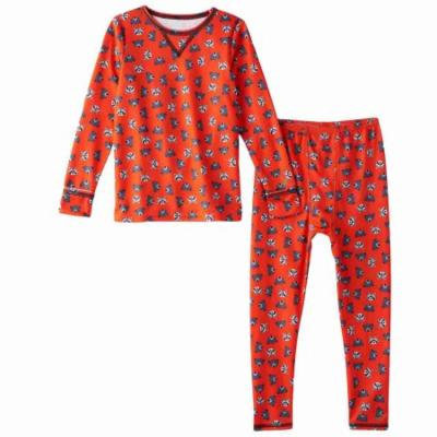 Cuddl Duds Toddler Boys Raccon & Bear Thermal Underwear Base Layer Set 2T-3T