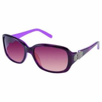 JESSICA MCCLINTOCK Sunglasses 564 Eggplant Horn 54MM