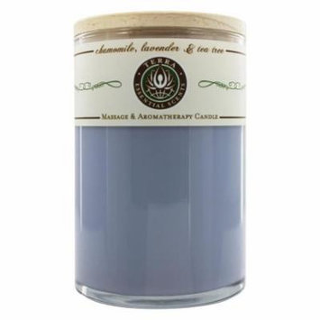Terra Essential Scents - Massage & Aromatherapy Soy Candle Chamomile, Lavender & Tea Tree - 12 oz.