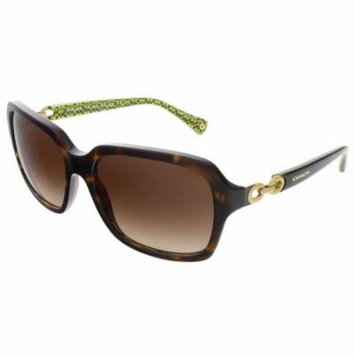 Coach HC8104 523213 Dark Tortoise Rectangular sunglasses