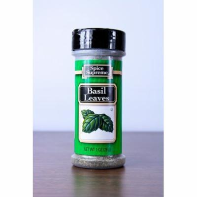 Club Pack of 12 Spice Supreme Basil Leaves Seasonings 1 oz. #30420