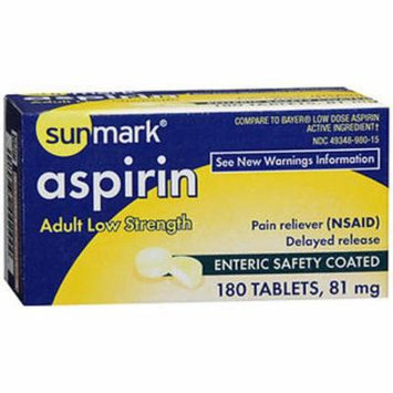 Sunmark Aspirin Adult Low Strength 81 mg Enteric Safety Coated Tablets - 180 ct