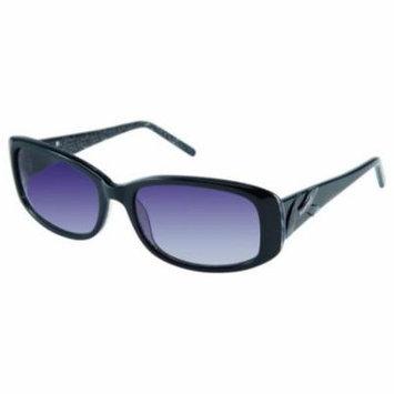 ELLEN TRACY Sunglasses PRAGUE Black Leopard 54MM
