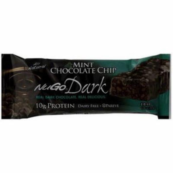 Nugo Mint Chocolate Chip Bar, 1.76 oz, (Pack of 12)