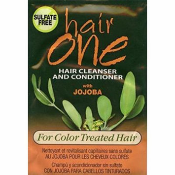Hair One Jojoba Hair Cleanser Conditioner For Color Treated Hair .608 oz. Packettes (Pack of 4)