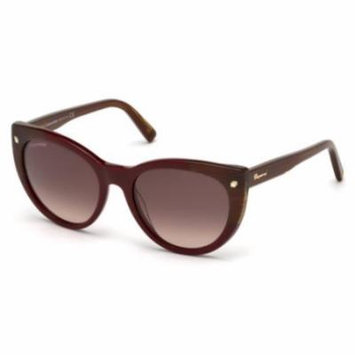 DSQUARED2 Sunglasses DQ0180 69F Shiny Bordeaux 55MM
