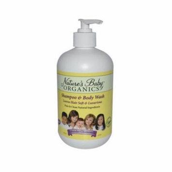 Natures Baby Organics 0290486 Shampoo & Body Wash, Lavender Chamomile - 16 fl oz