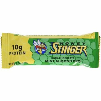 Honey Stinger Protein Bar, Dark Chocolate Mint Almond Pro, 1.5 OZ (Pack of 15)