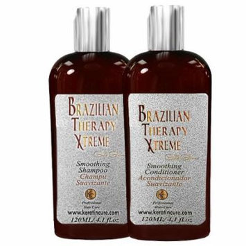 Sulfate Free Keratin Cure BTX Daily Shampoo Conditioner 120ml/4floz