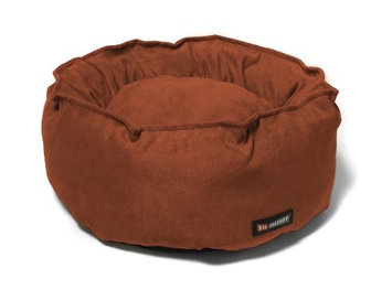 Big Shrimpy Catalina Faux Suede Bed for Cats and Small Dogs, Paprika
