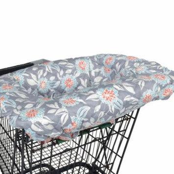 Balboa Baby Shopping Cart and High Chair Cover - Grey Dahlia Floral Design - 100% Cotton