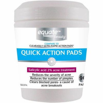 Equate Beauty Quick Action Pads Acne Treatment, 90 count