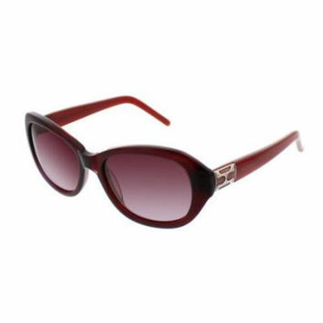 ELLEN TRACY Sunglasses TOSCANA Red Horn 53MM