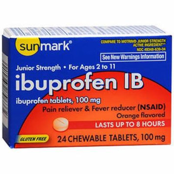 Sunmark Ibuprofen IB 100 mg Chewable Tablets - 24 ct