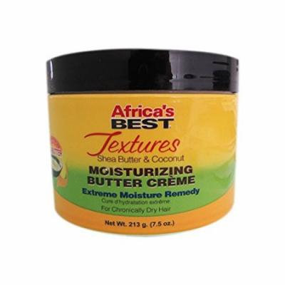 Africa's Best Textures Shea Butter & Coconut Moisturizing Butter Creme 7.5 oz. (Pack of 3)