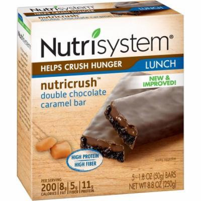 Nutrisystem NutriCRUSH Double Chocolate Caramel Meal Replacement Bars, 1.8 oz, 5 count, (Pack of 6)