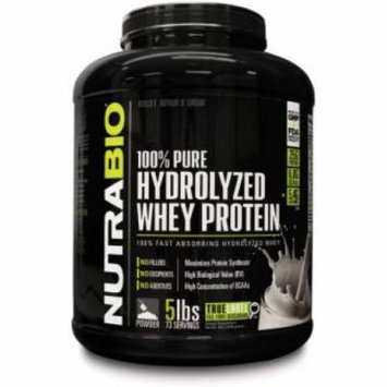 NutraBio 100% Hydrolyzed Whey Protein Unflavored - 5lbs Fast Absorbing Hydrolyzed Whey No Fillers & No Additives