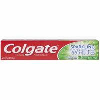 Colgate Sparkling White Baking Soda Mint Zing Anticavity Fluoride Toothpaste, 6 oz
