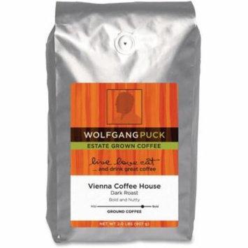 Wolfgang Puck Vienna Coffee House Ground Coffee Ground - Caffeinated - Rich Aroma - Dark - 32 oz - 1 Each
